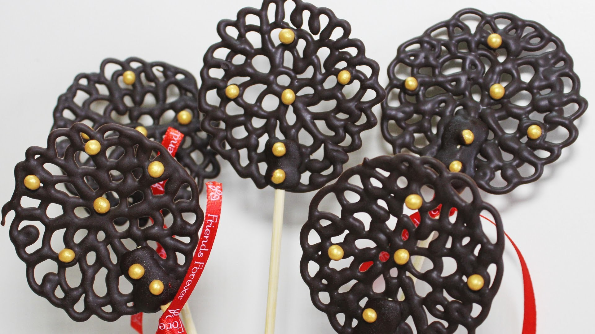 Chocolate Lace Lollipops | Quick And  Easy To Make Chocolate Dessert Recipe | Kanak's Kitchen