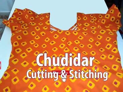 Chudidar cutting and stitching easy method | Churidar tailoring classes