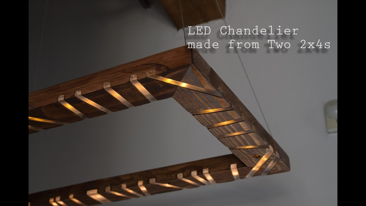 Diy 2x4 led chandelier with music sync two2x4challenge for Diy led chandelier