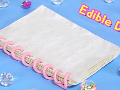 DIY Edible Notebook and Paper ?! Eat and Write! School Supply RiaRua