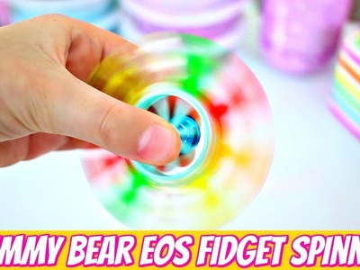 DIY FIDGET SPINNER WITHOUT BEARINGS USING AN EOS & GUMMY BEARS!