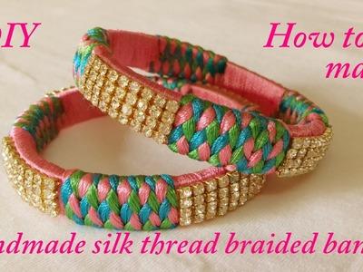 DIY || how to make Designer silk thread bangles at home || silk thread bridal bangles tutorials