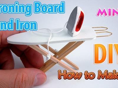 DIY Miniature Iron and Ironing Board | DollHouse | No Polymer Clay!