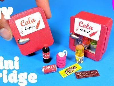DIY Miniature Refrigerator & Easy Snacks.Drinks - Doll Mini Fridge