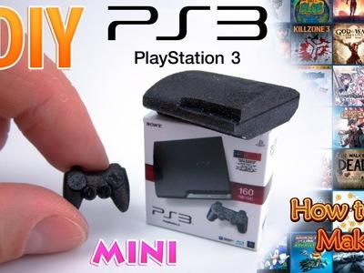 DIY Miniature Sony PlayStation 3 | DollHouse | No Polymer Clay!