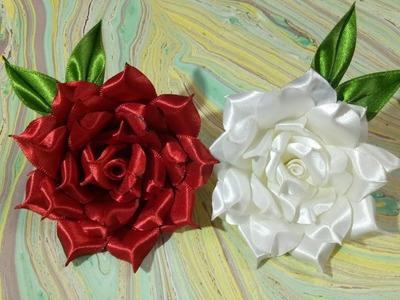 DIY Satin Ribbon rose ????????????