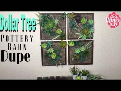 Dollar Tree DIY Pottery Barn Dupe Succulent Wall
