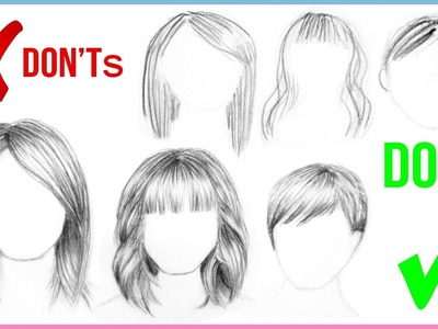 DOs & DON'Ts: How to Draw Realistic Hair Easy for Beginners Step by Step | Art Drawing Tutorial
