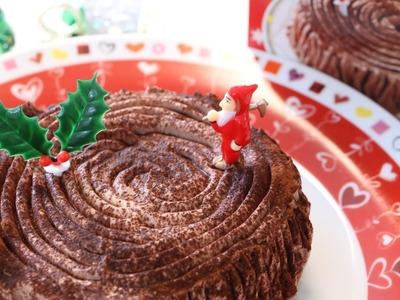 "Easy Microwave ""Buche de Noel"" Christmas Cake"