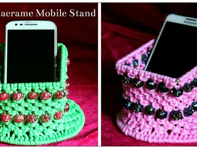 Easy Mobile Holder| DIY Macrame Mobile Stand| Cellphone stand