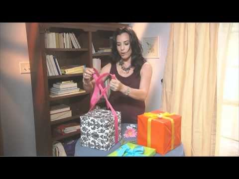 Gift Wrapping Ideas: How to Tie a Ribbon Around a Gift Box