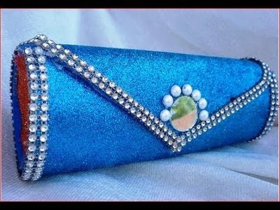 Hand bag pouch easy making at home DIY हाथ बैग थैली आसानी से घर पर बनाओ