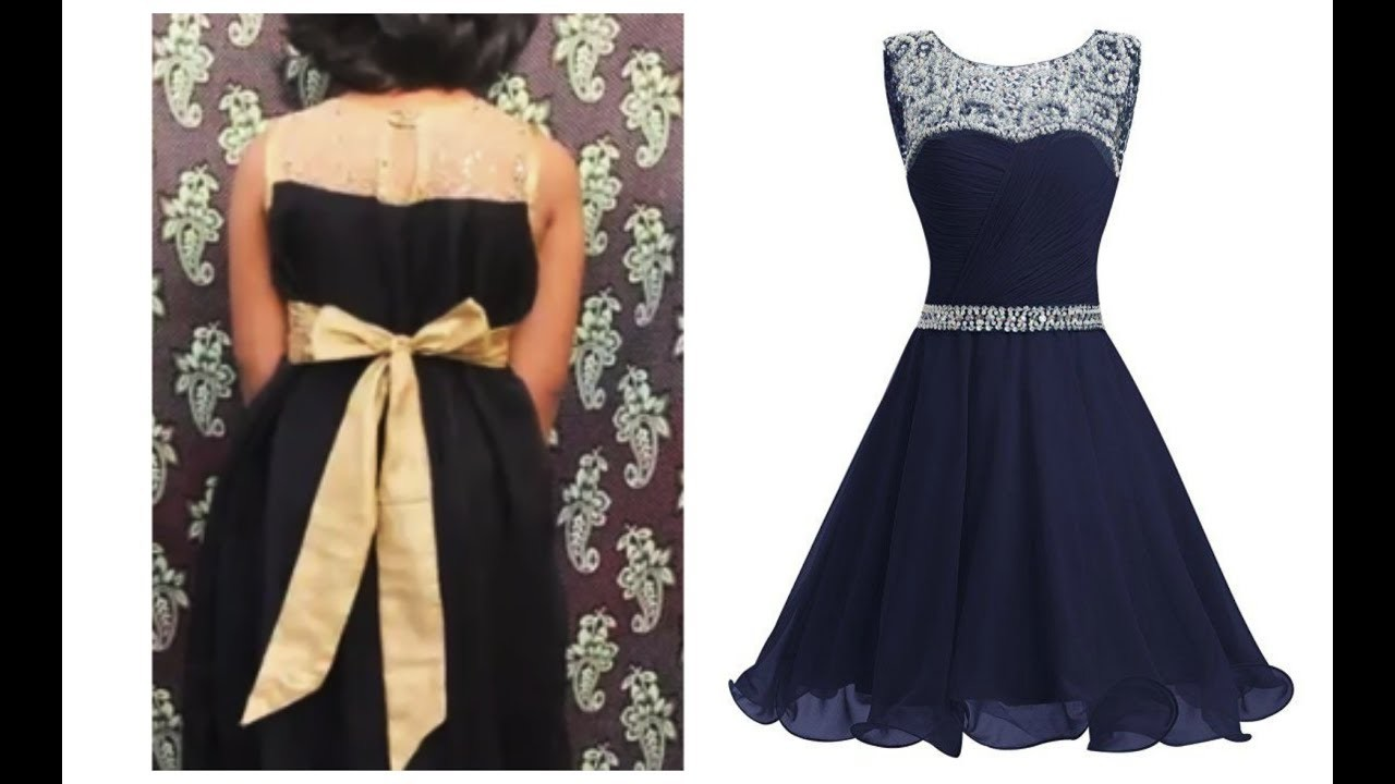 HOW TO CUT AND STITCH  FROCK WITH SWEET HEART NECKLINE (DIY)
