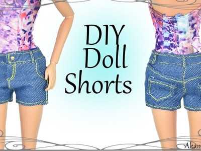How to: Cute Denim Shorts - Doll Fabric. Sewing Tutorial