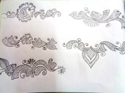 How to draw mehndi basic shapes - K28