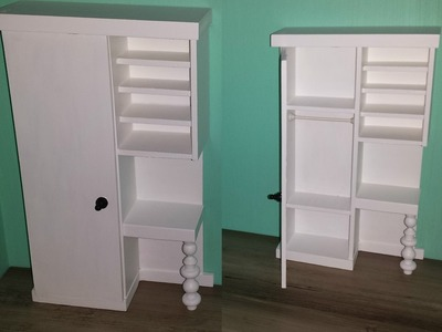 How to make a 3 - 1 Doll Closet