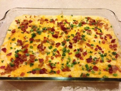 How to make a Fully Loaded Mashed Potato Casserole
