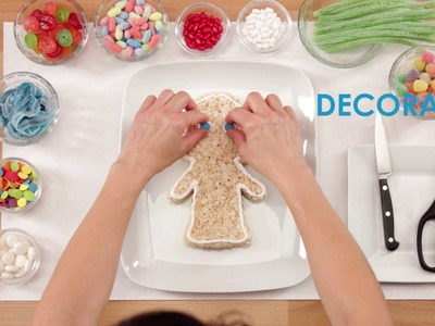 How to Make a Gingerbread Girl Rice Krispies Treat