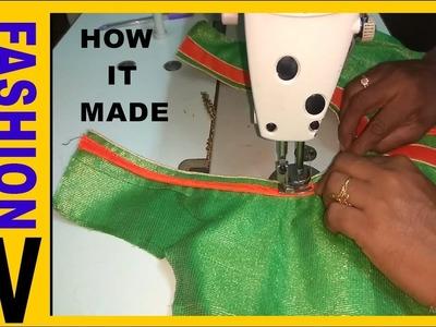 How to make Designer  Blouse at Home-51  Designer Bridal Back Neck Blouse Pattern - 2017  stitching