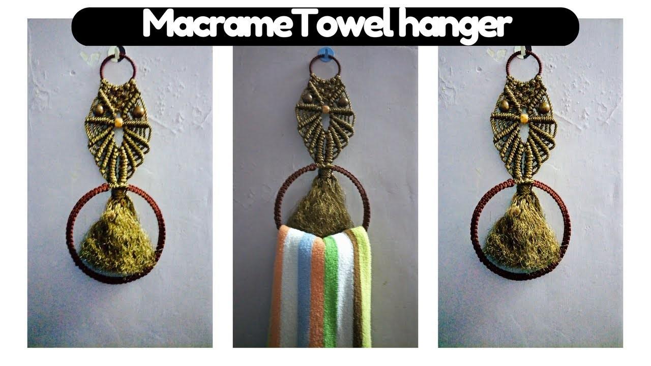 How to make easy macrame Owl. Towel hanger | macrame Art |Easy tutorial in hindi