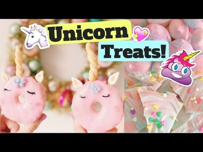 How To Make Unicorn Treats! Unicorn Donuts! Unicorn Poop! Unicorn Bark!