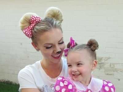 How to: Minnie Mouse Hair for Halloween and.or Disneyland (Disney)