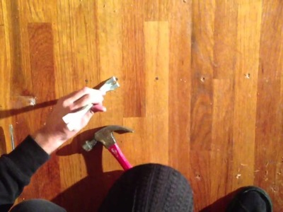How to remove nails from hardwood floor