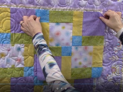Let's Make! | Disappearing Nine Patch with Mitered Corner Borders Tutorial