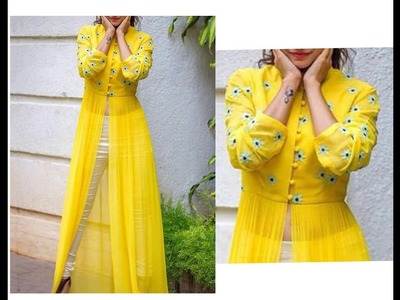 Maxi Slit Dress. Gown Complete Cutting & Sewing Tutorial ( DIY)