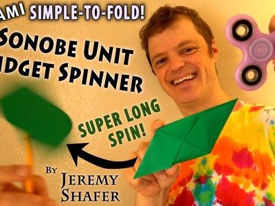 Origami Sonobe Unit Fidget Spinner