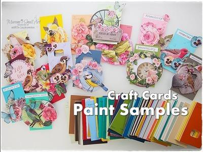 Paint Samples DIY Craft Cards ♡ Maremi's Small Art ♡