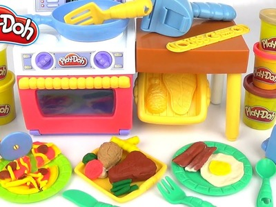 Play-doh Meal Makin' Kitchen Creations Playset- DIY Toy Unboxing & Review