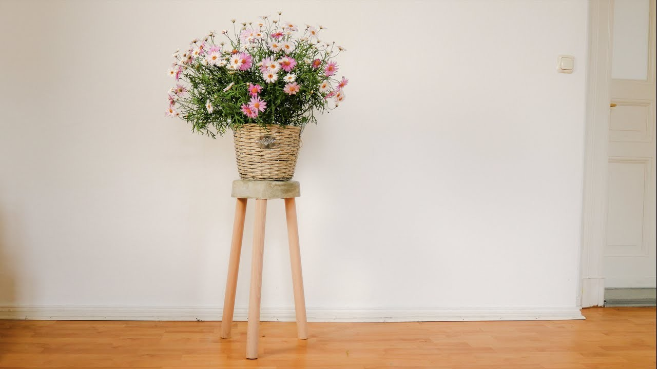 Quick and easy: How to build a stool out of concrete