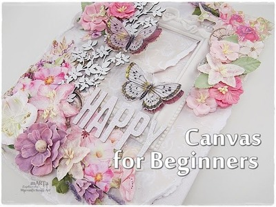 Scrapbooking Canvas Tutorial for Beginners ♡ Maremi's Small Art ♡