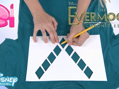 The Evermoor Chronicles | Fashion Tutorial: DIY Stencil T-Shirt | Official Disney Channel UK