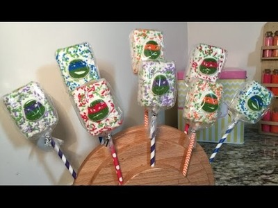 TMNT Rice Krispie Treats(How To)