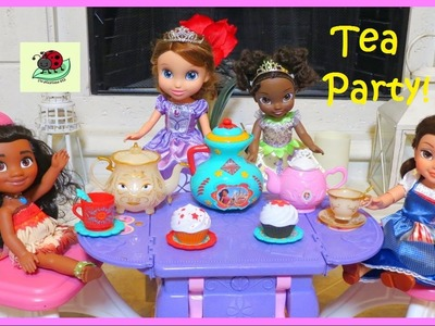 Toys TEA PARTY SET Play Pretend MOANA Elena of Avalor PRINCESS BELLE Sofia Tiana