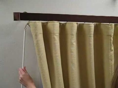 Wave Fold Drapery - How to hang for the perfect look
