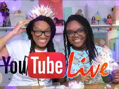 YouTube LIVE with the Froggies DIY MERMAID CROWN Plus Weekly Q&A and Updates
