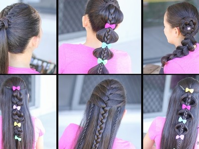 6 Hairstyles for the Week! | Easy Hairstyles | Hairstyles for School | Cute Girly Hairstyles