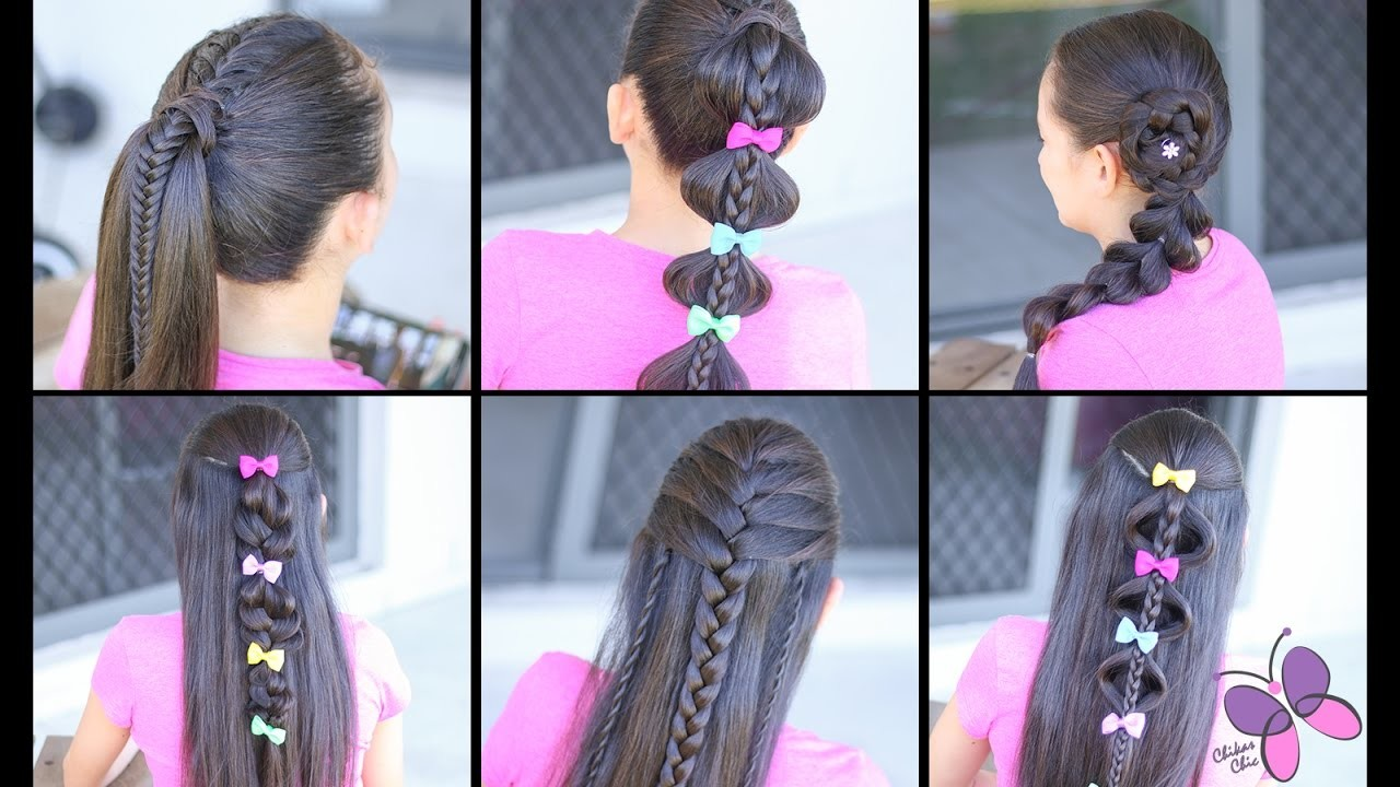 6 Hairstyles for the Week!   Easy Hairstyles   Hairstyles for School   Cute Girly Hairstyles