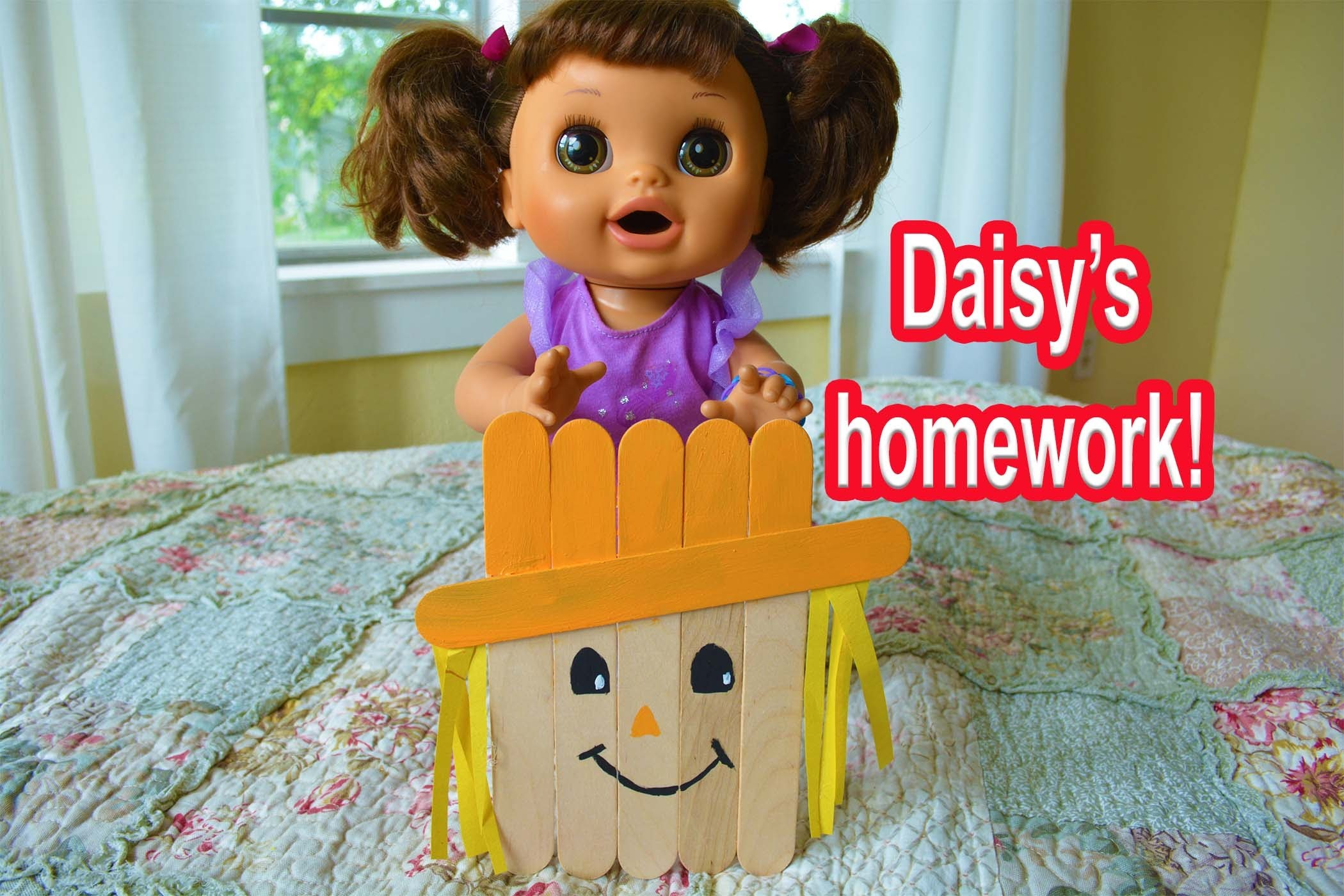 Baby Alive School- Daisy Makes A Scarecrow For The Fall Festival! - baby alive goes to school