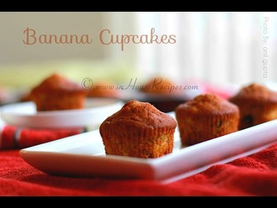 Banana Cupcake Recipe In Oven with Eggs