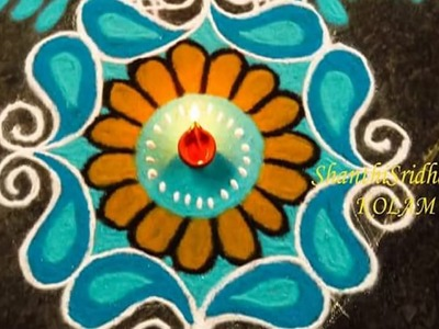 Beautiful Rangoli Part 4 || simple rangoli designs without dots ||  rangoli designs with flowers