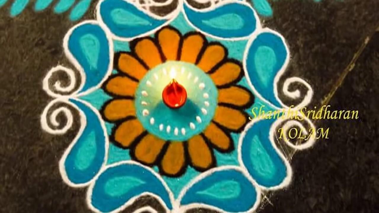 Beautiful Rangoli Part 4 Simple Rangoli Designs Without Dots Rangoli Designs With Flowers
