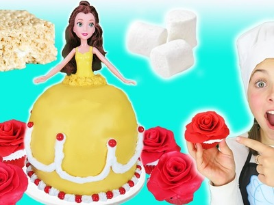 Beauty And The Beast Princess Belle Rice Krispy Dress Cake Kids Cooking Marshmallow Dessert Recipes