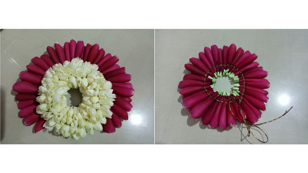 bridal poo jadai with rose petals my crafts and diy projects