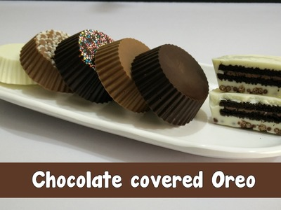 Chocolate covered Oreo Recipe in Hindi by Cooking with Smita - Chocolate-Dipped Oreo