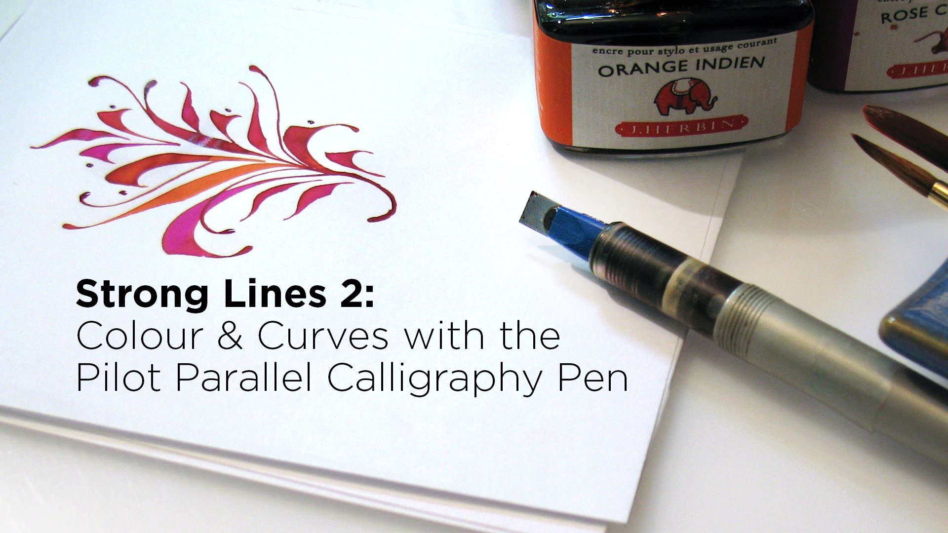 Colour Curves With The Pilot Parallel Calligraphy Pen