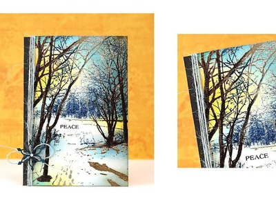 Create a Winter Scene with Penny Black Stamps and MISTI